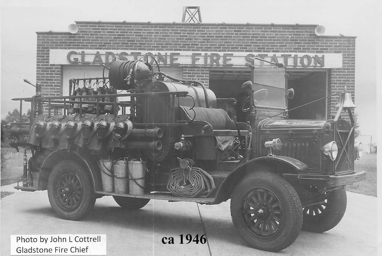 Fire Department Truck in 1946