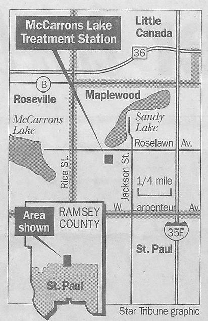 Maplewood Map Showing Sandy Lake