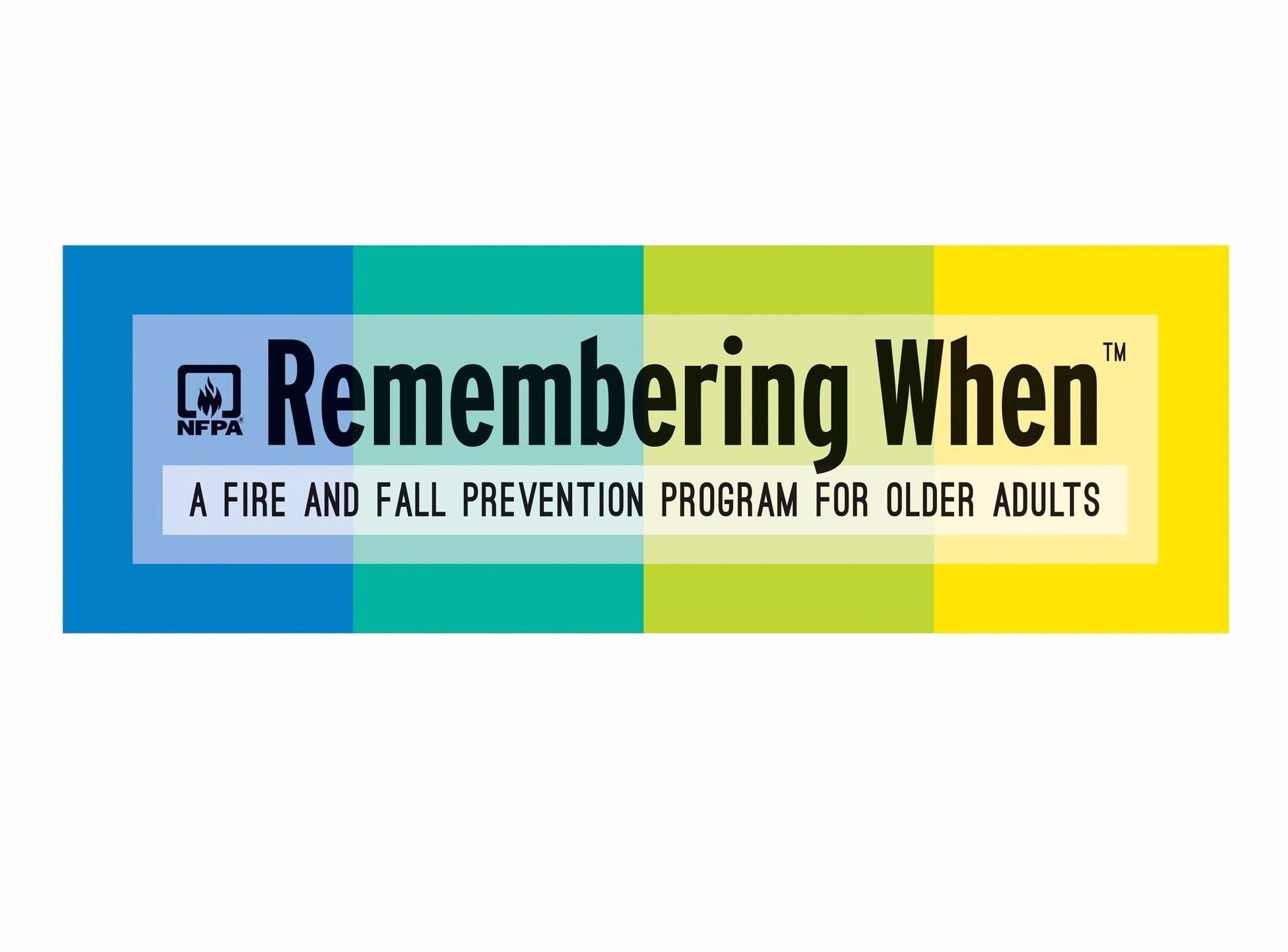 Remembering When - A Fire and Fall Prevention Program for Older Adults