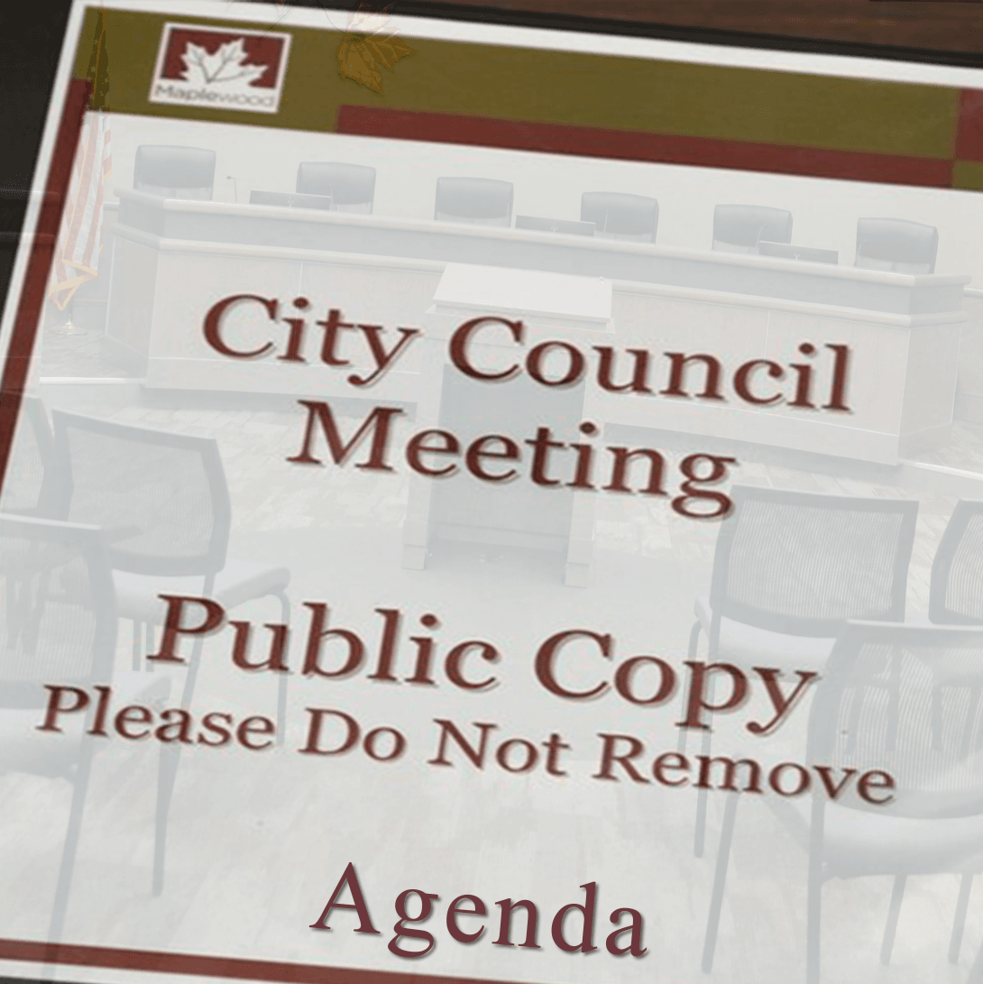 City Council Meeting Agenda