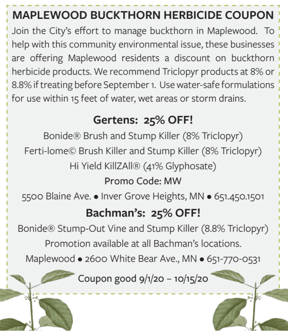 Buckthorn Coupon