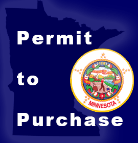 Minnesota State Flag with Permit to Purchase text